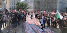 Wasserwerfer & Anzeigen bei Corona-Demo in Wiener City