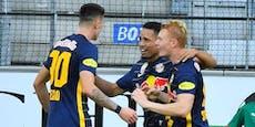 Späte Tore: Salzburg rettet mit 3:1 die Sieges-Serie