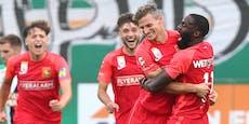 2:1-Sieg in Hütteldorf! Herzogs Admira schockt Rapid