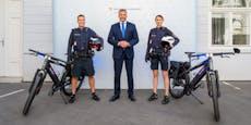 Wiener Polizei ab jetzt mit Sirenen-E-Bikes im Einsatz