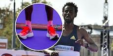 Schuh zu hoch! Marathon-Sieger disqualifiziert