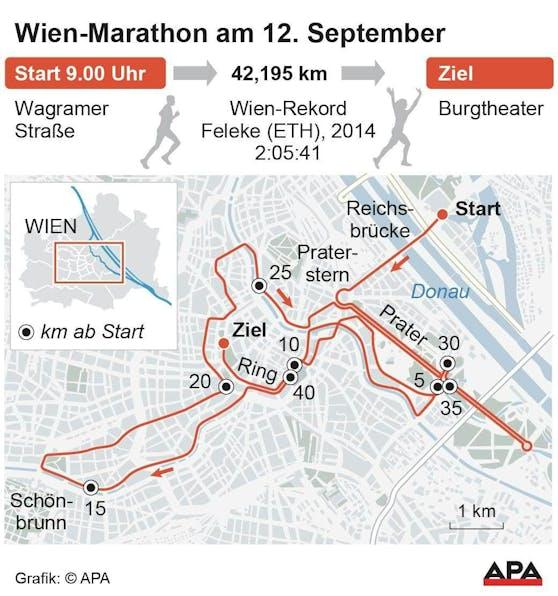 Wien-Marathon am 12. September