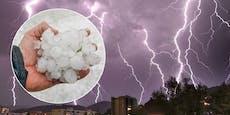 Kräftige Schauer und Hagel-Gewitter im Anmarsch