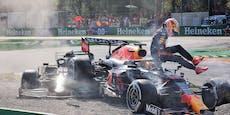 Verstappen wird für Crash mit Hamilton bestraft