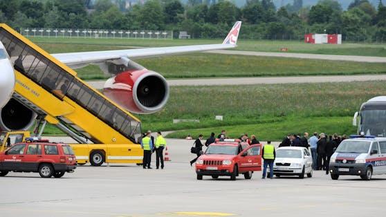 Der Airbus landete außerplanmäßig am Flughafen Graz.