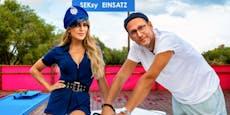 Sylvie Meis macht als sexy Polizistin Fesselspiele