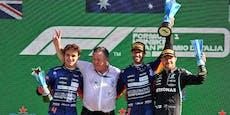 Ricciardo rast nach Crash der Superstars zum Monza-Sieg