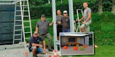 Väter bauten erstes coronasicheres Klassenzimmer