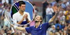Medwedew gewinnt US Open, Djokovic bricht in Tränen aus