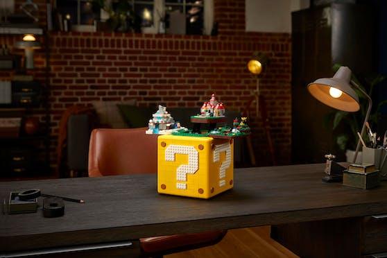 Der LEGO ?-Block aus Super Mario 64.