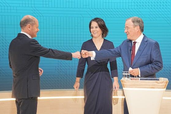 Beim TV-Triell ging es heiß zu und her. Am Schluss durften wohl aber alle drei mit ihren Auftritten zufrieden sein.