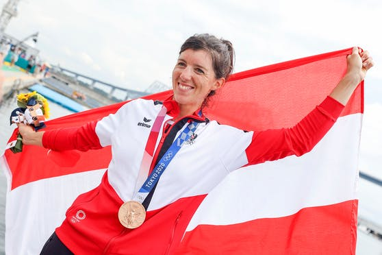 Magdalena Lobnig eroberte Bronze im Rudern.