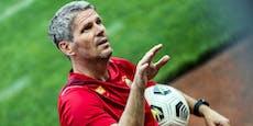 Rapid-Coach Kühbauer spricht über das Karriere-Ende