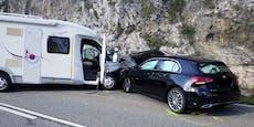 Auto rammt Wohnmobil – sieben Verletzte in Tirol