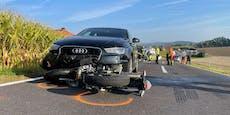 Mopedfahrer (15) stirbt bei Unfall am Weg in die Schule