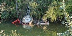 87-Jähriger stürzte mit Traktor in Nebenarm der Donau