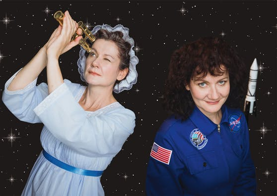 In der Theaterproduktion STERNENFRAUEN von portraittheater stehen die Begeisterung von Frauen für die Weltraumforschung und bedeutende Errungenschaften im Vordergrund.