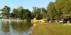 Seniorin ertrinkt – Hubschraubereinsatz im Gänsehäufel