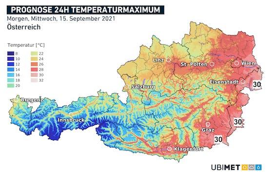 Hochsommerliche Temperaturen im Osten und Südosten
