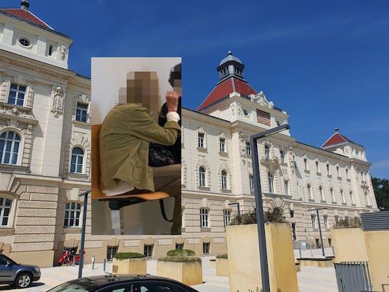 Prozess nach Bauchstich: Die Angeklagte (l.) vor Gericht