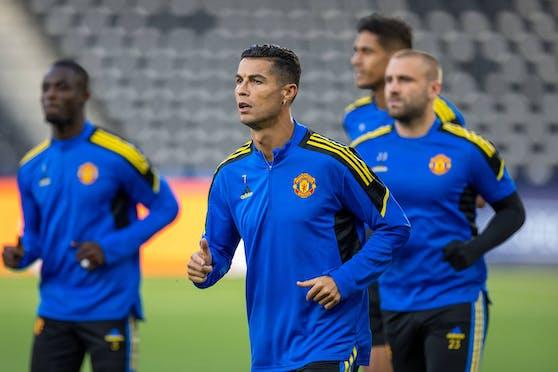 Cristiano Ronaldo und die United-Kollegen.
