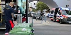 Wiener Bus muss notbremsen, Frau wird dabei verletzt