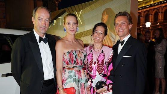 Christoph und Eva Dichand mit Birgit Lauda und Marcus Sieberer