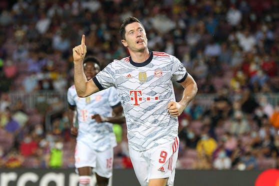 Robert Lewandowski gelingt der Doppelpack für die Bayern.