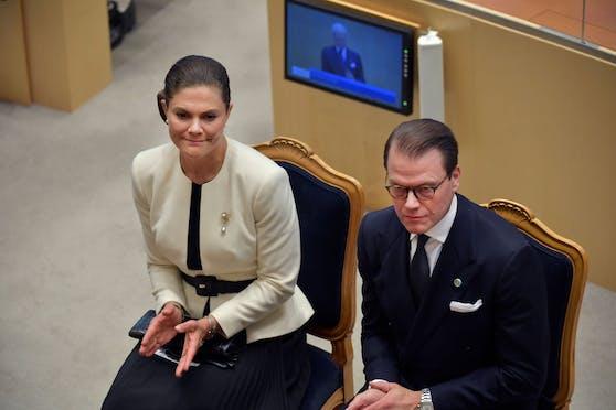 Prinzessin Victoria und Prinz Daniel bei der Parlamentseröffnung.
