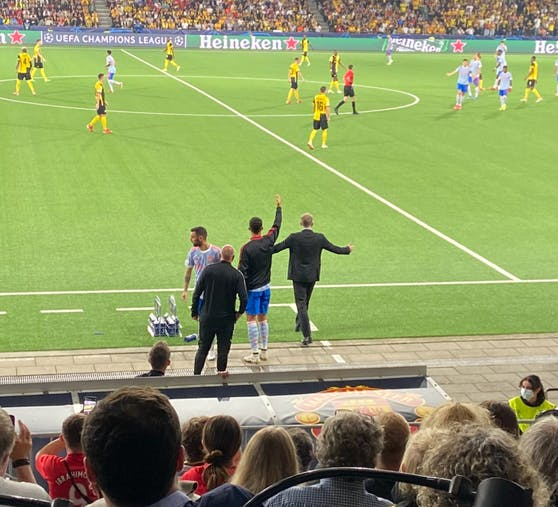Cristiano Ronaldo und Bruno Fernandes coachen United. Cheftrainer Ole Gunnar Solskjaer lässt sie.
