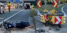 Crash auf der A2– Biker per Heli ins Spital