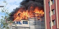Polizei-Drohnen nach Feuer in Luxus-Lofts im Einsatz