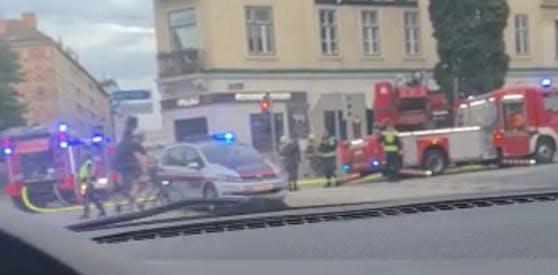 Auf der Wiedner Hauptstraße brannte es.