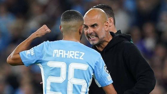 Pep Guardiola geigt Rivad Mahrez die Meinung.