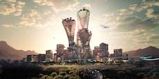 Platz für 5 Millionen Menschen in futuristischer Stadt