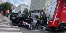 Biker (34) nach Crash mit Taxi in Favoriten verletzt