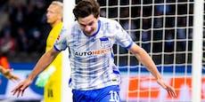 2:1! Joker-Tor leitet Wende bei Hertha-Sieg ein