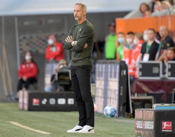 Adi Hütter verliert mit Borussia Mönchengladbach.