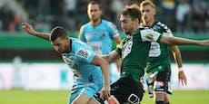 Sensations-Aufholjagd: Wolfsberg vergeigt 3:0 in Ried