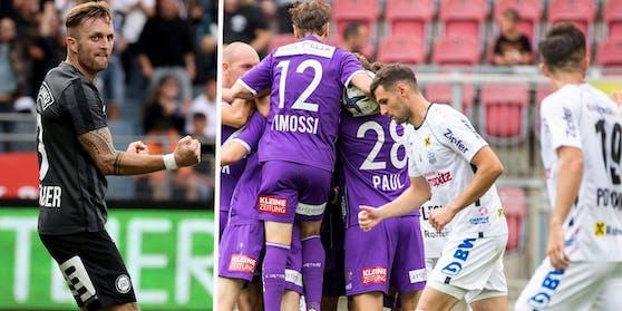 Sturm fertigt Tirol ab, der LASK patzt gegen Klagenfurt.