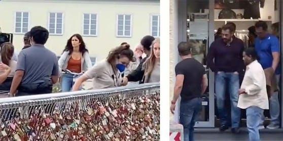 Katrina Kaif (l.) und Salman Khan wurden in Österreich gesehen.