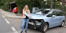 """Fahrerflucht-Opfer: """"In der Früh sah mein Auto so aus!"""""""