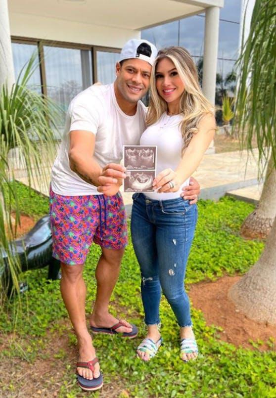 Hulk und Gattin Camila Angelo freuen sich über Nachwuchs