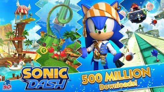 Sonic Dash feiert 500 Millionen Downloads und wird zum meistgespielten Sonic-Titel für mobile Geräte.