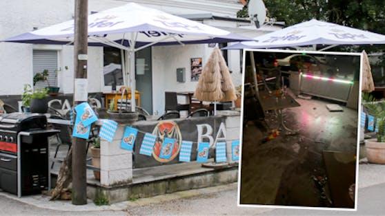 """""""Es flogen Stühle, Tische, und Töpfe"""", berichtet der Chef des betroffenen Linzer Lokals."""