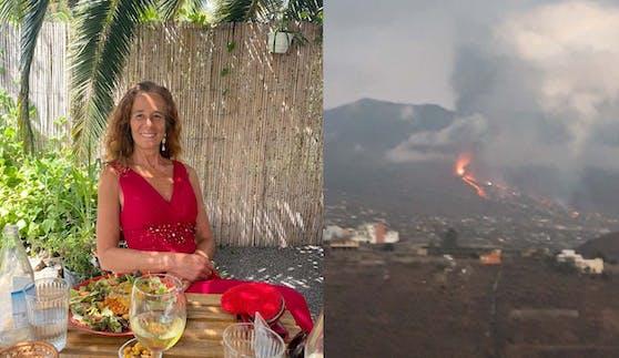 Alexandra Vidal musste vor dem Vulkanausbruch auf La Palma flüchten und ist bei Freunden untergekommen.