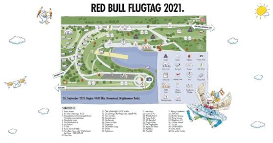 """Das Gelände des """"Red Bull Flugtag"""""""