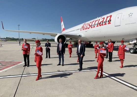 Die Austrian Airlines fliegen ab November wieder in die USA. Der Einreisestopp für europäische Flugpassagiere wurde wieder aufgehoben.