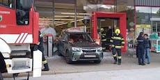 Pedale verwechselt: Mit Auto in Penny-Markt gekracht