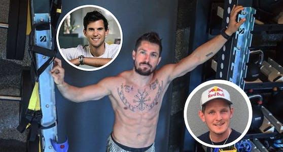 """Marcel Hirscher, Dominic Thiem und Thomas Morgenstern sitzen am 26. September in der Jury des """"Red Bull Flugtag"""""""